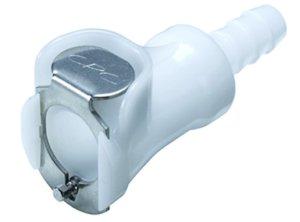 "Colder PLC17006 Acetal Tube Fitting, Coupler, Straight Thru, In-Line, 1/4"" Flow Coupler x 3/8"" Barb"