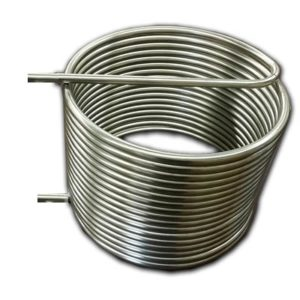 """HERMS COIL, 304 STAINLESS STEEL, 50' X 1/2"""" OD TUBING"""