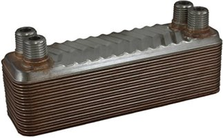 "Duda Energy HX0520: M025 B3-5A 20 Plate Heat Exchanger 1/4"" Male NPT"