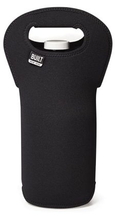 BUILT NY Insulated Neopreane Beer Growler Tote, Black