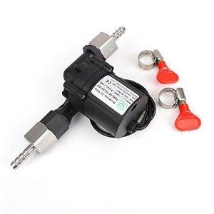 "Wort Transfer Pump,MRbrew 12V Solar Hot Water Circulation Pump Homebrew Beer Circulation Brushless Pumps Plastic W/ Connector Brewing NPT 1/2"""