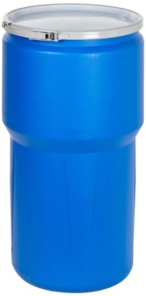 "Eagle 1610MB Blue High Density Polyethylene Lab Pack Drum with Metal Lever-lock Lid, 14 gallon Capacity, 26.5"" Height, 15"" Diameter"