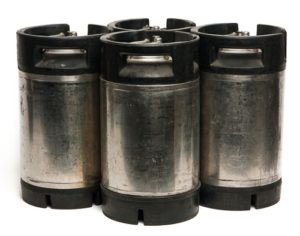 Set of Four 3 Gallon Cornelius Style Kegs, Pin Lock (Used)