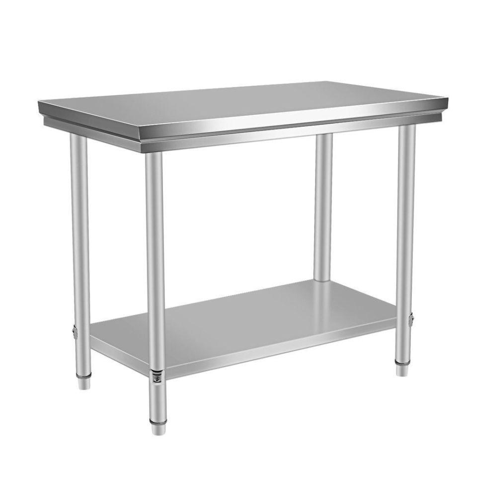 "24"" x 48"" Stainless Steel Work Prep Table with Backsplash Kitchen Restaurant New"