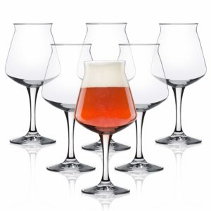 Nucleated Teku 3.0 Beer Glass by Rastal - Nucleated Pint Glasses for Better Head Retention, Aroma and Flavor - 14.2 oz Craft Beer Glass for Enhanced Beer Drinking Bliss- Gift Idea for Men - 6 Pack