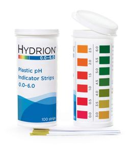 Micro Essential Labs Hydrion Pro Ph Strips (Ph 0.0 To 6.0) Item 9200 100 Strips