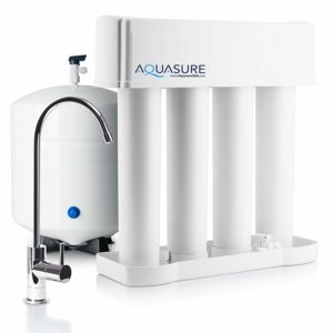Aquasure Premier Advanced Reverse Osmosis Drinking Water Filtration System with Quick Twist Lock - 75 GPD (Chrome)