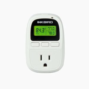 Inkbird C206 10A Heat Mat Temperature Controller with Outlet, 6.56FT NTC Sensor, F and C Degree, 50-108°F, Without Cooling Function