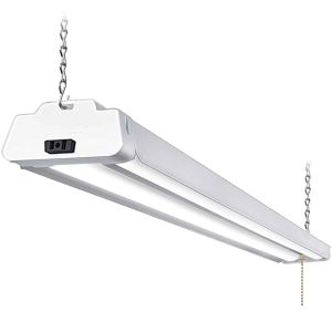 Hykolity 4FT 36W Linkable LED Shop Light with cord, 3600lm Hanging or FlushMount Garage Utility Light, 5000K Overhead Workbench Light, Light Weight, Shatter Proof 64w Fluorescent Fixture Replacement-1
