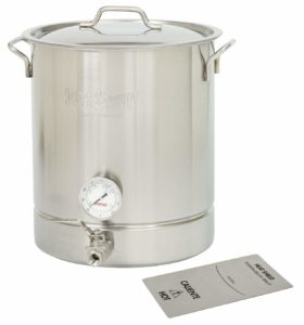 Bayou Classic 10 gallon Brew Kettle Set, 40 quart, Stainless Steel