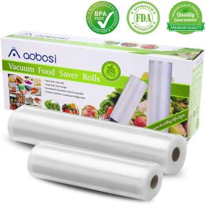 "Aobosi Vacuum Sealer Bag Rolls BPA-Free 11""×20'and 8""×20'Embossed Vacuum Food Storage Bags for Food Save and Sous Vide,Compatible with all Vacuum Sealers