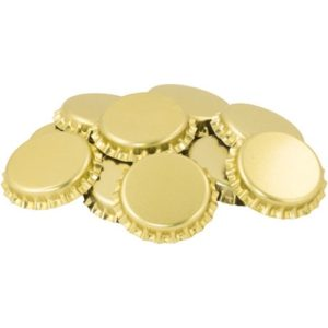 Gold Oxygen Absorbing Bottle Caps (100 Caps) B470