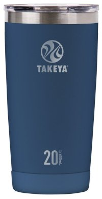 Takeya Actives Insulated Stainless Tumbler with Flip Lid, 20oz, Midnight