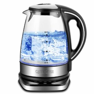 Electric Kettle - Water Kettle Tea Kettle with 5-Temperature Setting&12-Hour Keep Warm Function, 1.7L(3.8 pint) 1500W, Glass Electric Kettle, Borosilicate Glass Teakettle FDA Approved