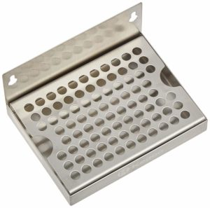 """Kegco KC DP-64 Wall Mount Drip Tray with No Drain, 6"""", Stainless Steel"""