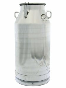 Stainless Steel Milk Can, Heavy Duty with Strong, Sealed Lid (13 Gallon)