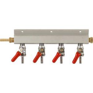 Gas Manifold - 1/4 in. (Aluminum) D1811