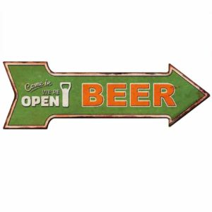 HANTAJANSS Bar Signs with Open Retro Beer Signs for Wall Decoration