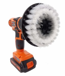 "Beast Brush Soft 5"" Drill Brush Attachment Spin Power Scrubber For Fast And Easy Cleaning, Soft Bristles For Light Stains, Delicate Surfaces, Auto Detailing"