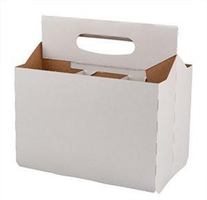 TFD Supplies Six Pack Bottle Cardboard Carrier Boxes for 12oz Beer or Soda Bottles (10 Pack)