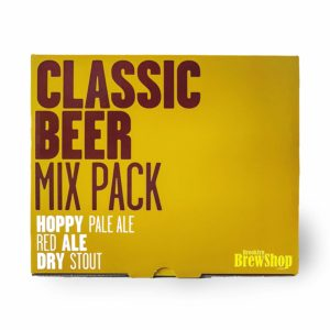 Brooklyn Brew Shop BU3CMP Classic 3 Pack Beer Making Refill Ingredient Mix Bundle 1 Gallon Hoppy Pale Ale, Red Ale & Dry Stout