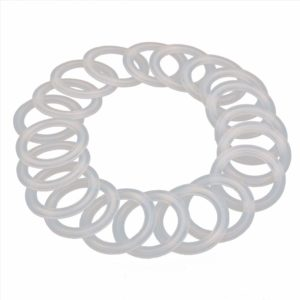 "HODEE 20 PCS Sanitary triCLAMP Tri CLAMP Silicone Gasket 1.5"" (1.5 inch)OD: 50.5mm, ID: 35.1mm Dairy Brewing TRI Clove"