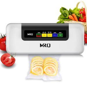 MRQ [2019 New 6-in-1] Vacuum Sealer -Automatic Vacuum Air Sealing System Machine, Handheld Food Sealer, Food Saver for Food Preservation [Dry & Moist Mode] [Normal & Gental Pressure] with 20pcs Bags