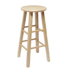 "Mainstays Fully Assembled 24"" Natural Wood Barstool"