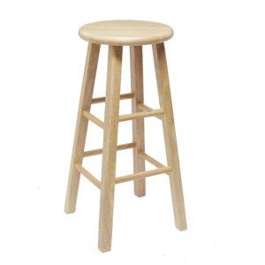 """Mainstays Fully Assembled 24"""" Natural Wood Barstool"""