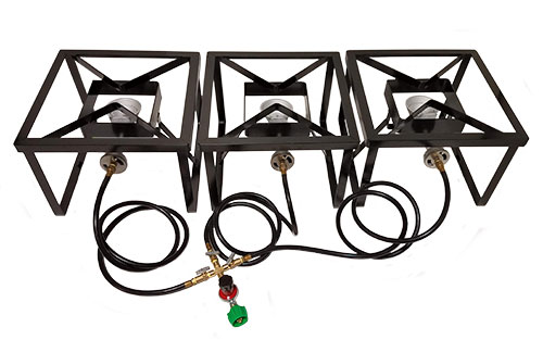 3 Burner System with 16'' Burner Stands (220,000 BTU)