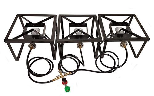 3 Burner System with 16'' Burner Stands (220,000 BTU)