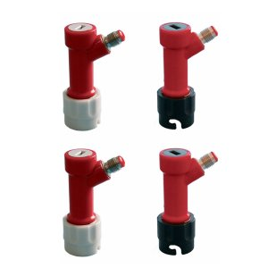 PERA 2 Pair Pin Lock coupler MFL 2 Gas & 2 Liquid Quick Disconnects Set