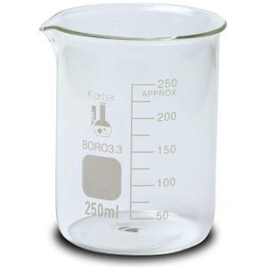250ml Beaker, Low Form Griffin, Borosilicate 3.3 Glass, Graduated, Karter Scientific 213D33