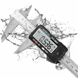 Dijite Caliper Measuring Tool, Digital Caliper with ABS/0 Button, IP54 Waterproof Micrometer Caliper Digital Stainless Steel Body, 6 Inch /150 mm, Inch to Metric Conversion, Auto-off LCD Screen