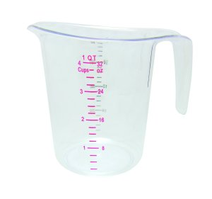 Update International (MEA-100PC) 1 Quart Plastic Measuring Cup