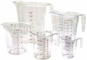 Winco 5-Piece Measuring Cup Set, Polycarbonate