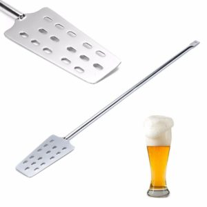 304 Stainless Steel Mash Tun Mixing Stirrer Paddle W/ 15 Holes For Home Brew