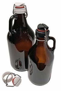 Black Swing-top Lid and Adapter for Screw-top Growlers