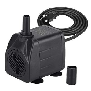 KEDSUM 880GPH Submersible Pump(3500L/H, 100W), Ultra Quiet Water Pump with 13ft High Lift, Fountain Pump with 4.9 ft Power Cord, 3 Nozzles for Fish Tank, Pond, Aquarium, Statuary,Hydroponics