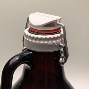 White Swing-top Lid and Adapter for Screw-top Growlers