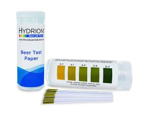 Hydrion Short Range Beer pH Test Paper Refills, 4.7-6.3 pH Range