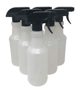 CSBD Plastic Spray Bottles - Empty Heavy Duty HDPE Plastic - Made in USA - Great for Both Commercial and Residential Uses 10 Pack (16 oz)