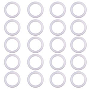 """DERNORD Silicone Gasket Tri-Clover (Tri-clamp) O-Ring Pack of 20 (1.5"""" Tri clamp Size: OD: 50.5mm, ID: 34mm)"""
