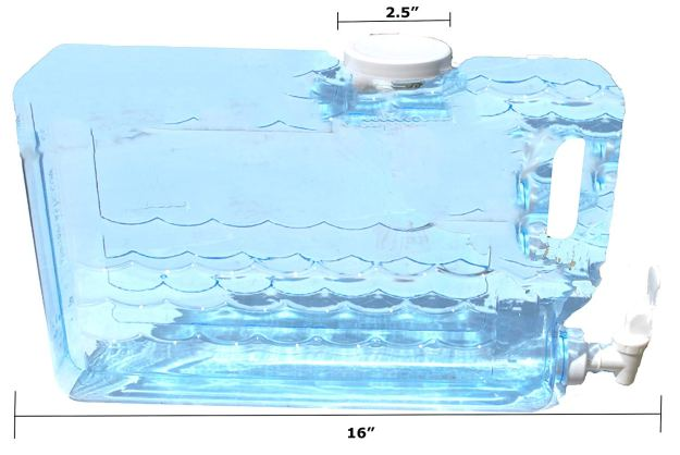 Arrow Plastic 00745 Slimline Beverage Container, 1.25-Gallon