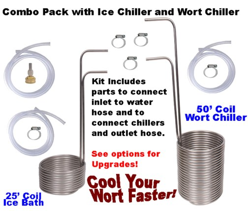 Ice Chiller and Wort chiller Combo Pack