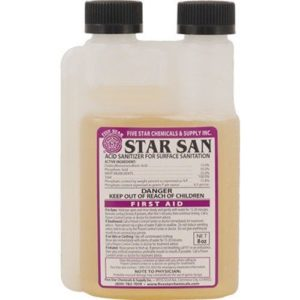 Star San Acid Sanitizer, 8 oz No Rinse Food Grade Homebrew Beer Wine Moonshine