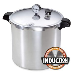 Presto 01784 23-Quart Induction Compatible Pressure Canner, 23qt, Polished Aluminum