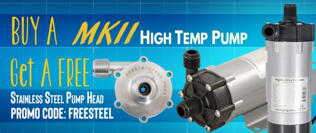 FREE Stainless Steel Pump Head With MKII Pump