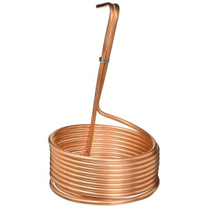 NY Brew Supply W3825-CV Homebrew Immersion Wort Chiller-25 Tubing, 25', Copper