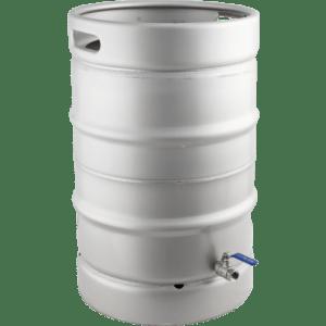 Stainless Steel Converted Keg Brewing Kettle (Keggle) - 15.3 gal.